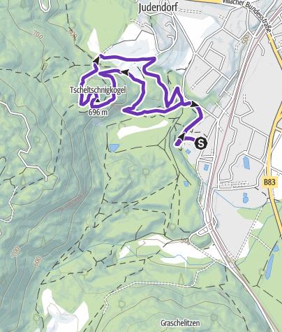 Karte / Lauf und Trailrunning Arena Warmbad-Villach - Tscheltschnigkogel-Challenge