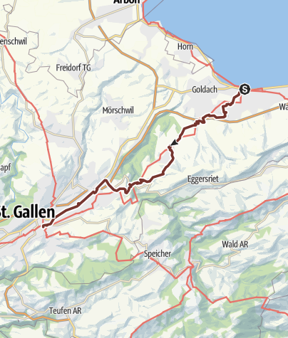 Map / Way of St.James Rorschach-St.Gallen
