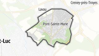 Mapa / Pont-Sainte-Marie