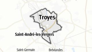 Mapa / Troyes