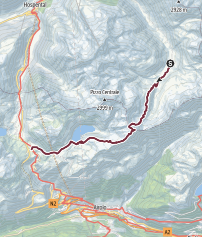 Map / Alpenkranz 21. Etappe: Vermigelhütte - Gotthardpass