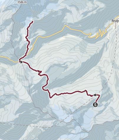 Map / Alpenkranz 23. Etappe: Rotondohütte - Sidelenhütte