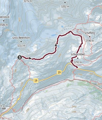 Karte / Alpenkranz 24. Etappe: Sidelenhütte - Tiefenbach