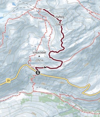 Karte / Alpenkranz 25. Etappe: Tiefenbach - Albert-Heim-Hütte