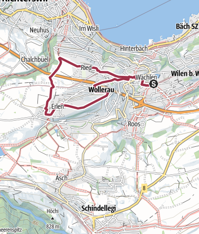 Karte / Rundweg Wollerau-Altenbach-Becki