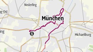 Map / Munich by feet - A day tour