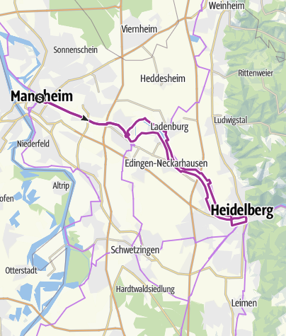 Neckarradweg Karte.Am Neckar Von Mannheim Nach Heidelberg Radtour Outdooractive Com