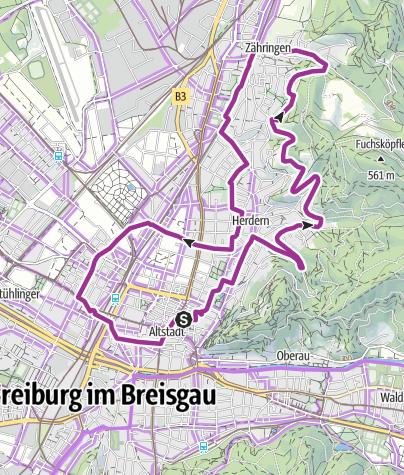 Karte / Stadtrundfahrt Freiburg