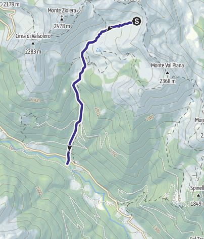 Karte / Rio Ziolera LZ