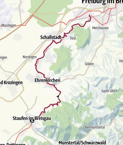 Karte / Markgräfler Wiiwegli - 5. Etappe