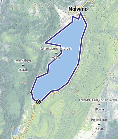 Mappa / Lago di Molveno A