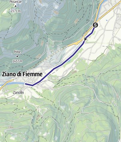 Karte / Torrente Avisio A1