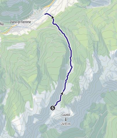 Karte / Rivi di Sagole e Canzenagol