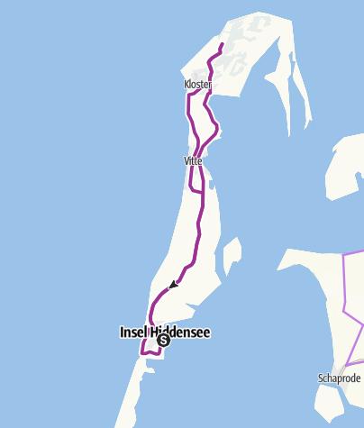 Karte / Eine Runde um Hiddensee