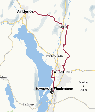 Bowness to Ambleside • Hiking Trail » outdooractive com