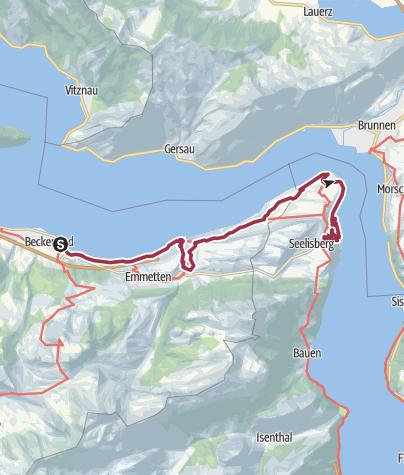 Karte / Via Urschweiz, 4. Etappe