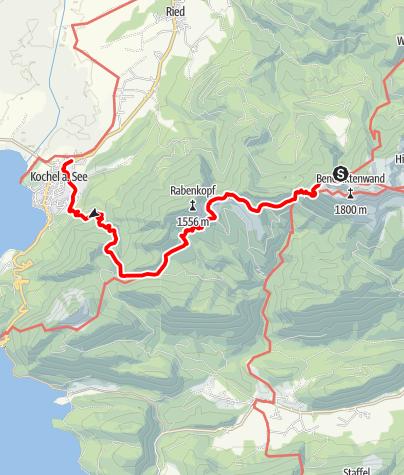 Karte / Tutzinger Hütte - Staffelalm/Rabenkopf - Kochel