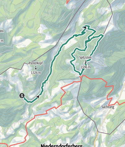 Karte / Spitzstein Überschreitung via Nordwandsteig von Erl - Bike&Hike
