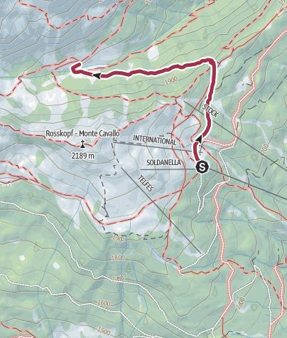 Karte / Wanderung zu den Vallmingalmen