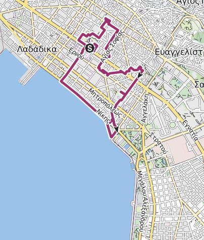 Thessaloniki Karte.Thessaloniki Schmelztiegel Mazedoniens Stadtrundgang