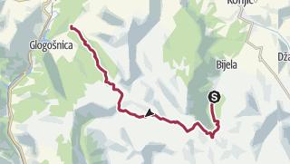 Kart / From Ravna via Međuprenje &Jezerce