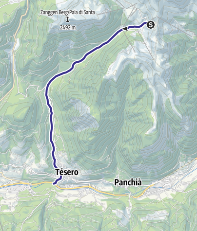 Karte / Rio Stava E8