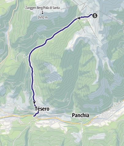 Map / Rio Stava E8