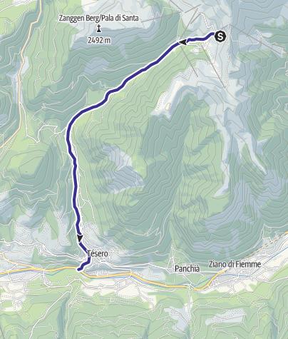 Mappa / Rio Stava E8