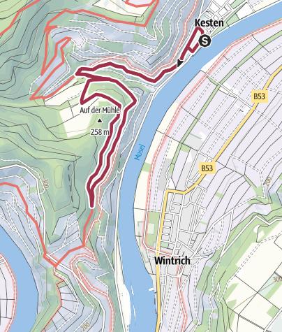 Karte / Kastanienweg - Wandern in Kesten an der Mosel
