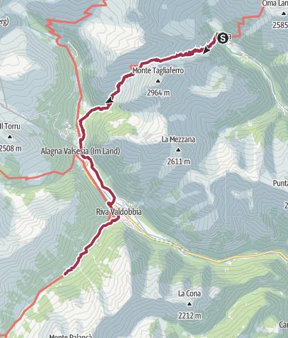Map / GTA - Rima - Alagna - S. Antonio im Valle Vogna
