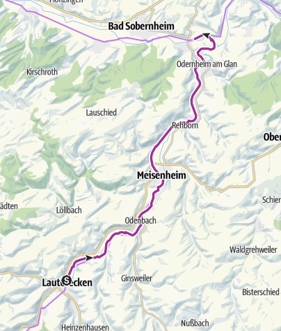 Karte / Familientour Perlen am Glan auf dem Glan-Blies-Radweg