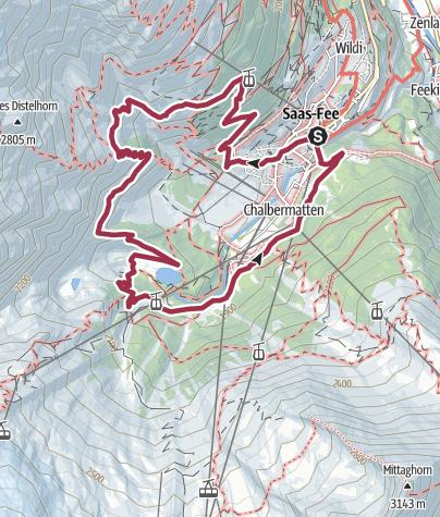 Map / Chamois trail from Hannig to Plattjen