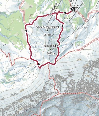 Karte / Rossweid - Blattenegg
