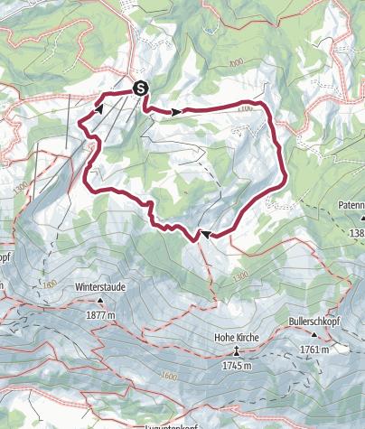 Map / Egg   Falzalpen circuit walk