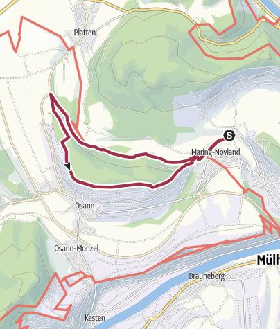 Karte / Hüttenkopfweg - Ferienland-Wanderweg - Maring-Noviand