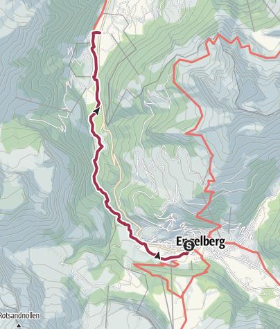Karte / Erlebnisweg Engelberger Aaschlucht