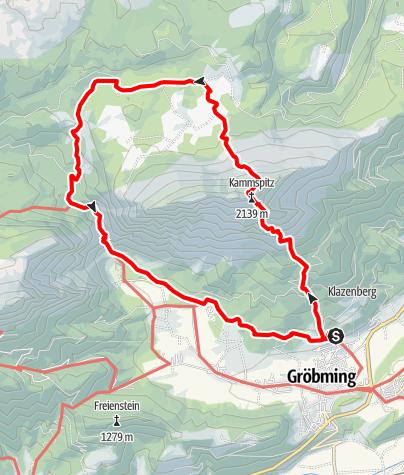 Map / Kammspitze 2.139 m / Viehbergalm-Runde