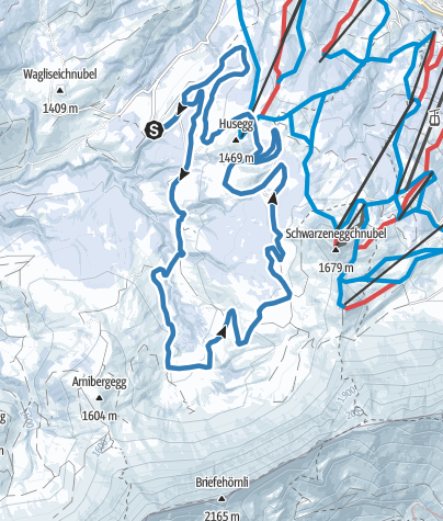 Map / Loipe Salwideli - Panoramaloipe