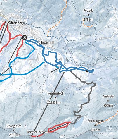 Mapa / Loipe Dorf Sörenberg