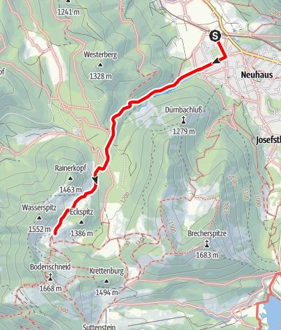 Karte / Zustieg Bodenschneidhaus von Fischausen-Neuhaus