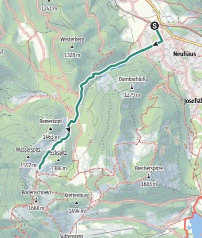 Map / Zustieg Bodenschneidhaus von Fischausen-Neuhaus