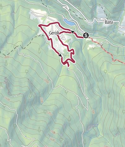 Cartina / Passeggiata nel bosco a Terragnolo