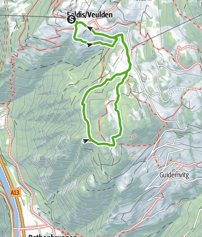 Karte / Blumen und Gletscherspuren in Feldis (Flower Walk)