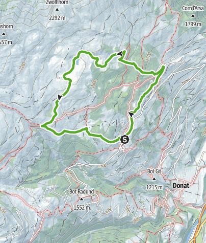 Karte / Schamser Bergwiesen im Naturpark Beverin (Flower Walk)