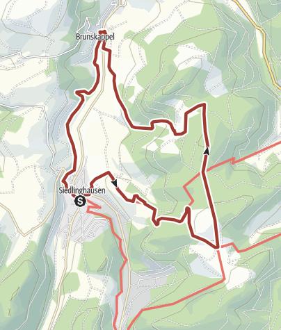 Karte / Kultur und Panoramen - Aus dem Negertal zum Hohen Hagen, Start in Winterberg-Siedlinghausen