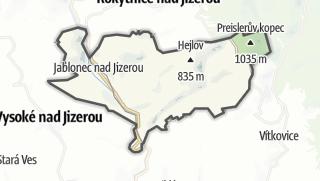 Karte / Jablonec nad Jizerou