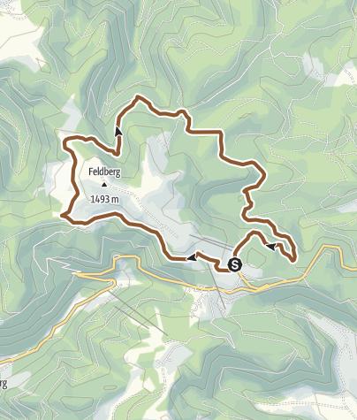 """Map / Mountain bike tour around the mountain """"Feldberg"""""""