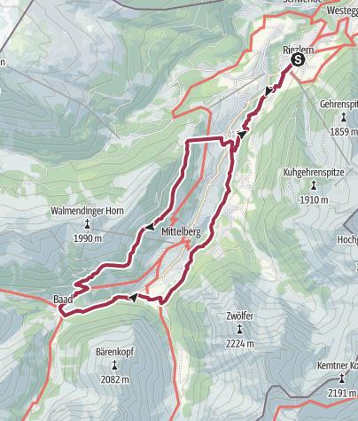 Karte / Walser Omgang – Finde deinen Weg