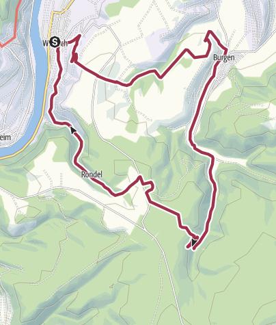 Karte / Ferienland-Wanderweg -Fünf-Tälerweg - Burgen