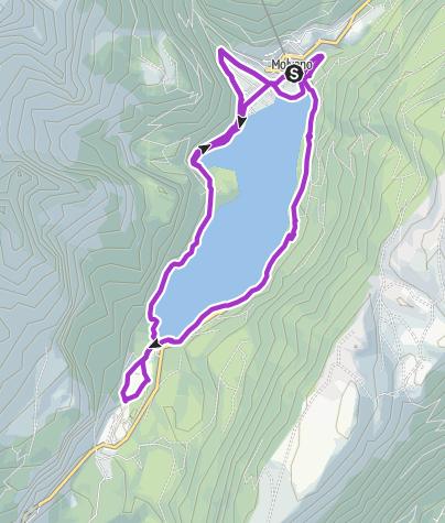 Cartina / Il tracciato della Molveno Lake Running